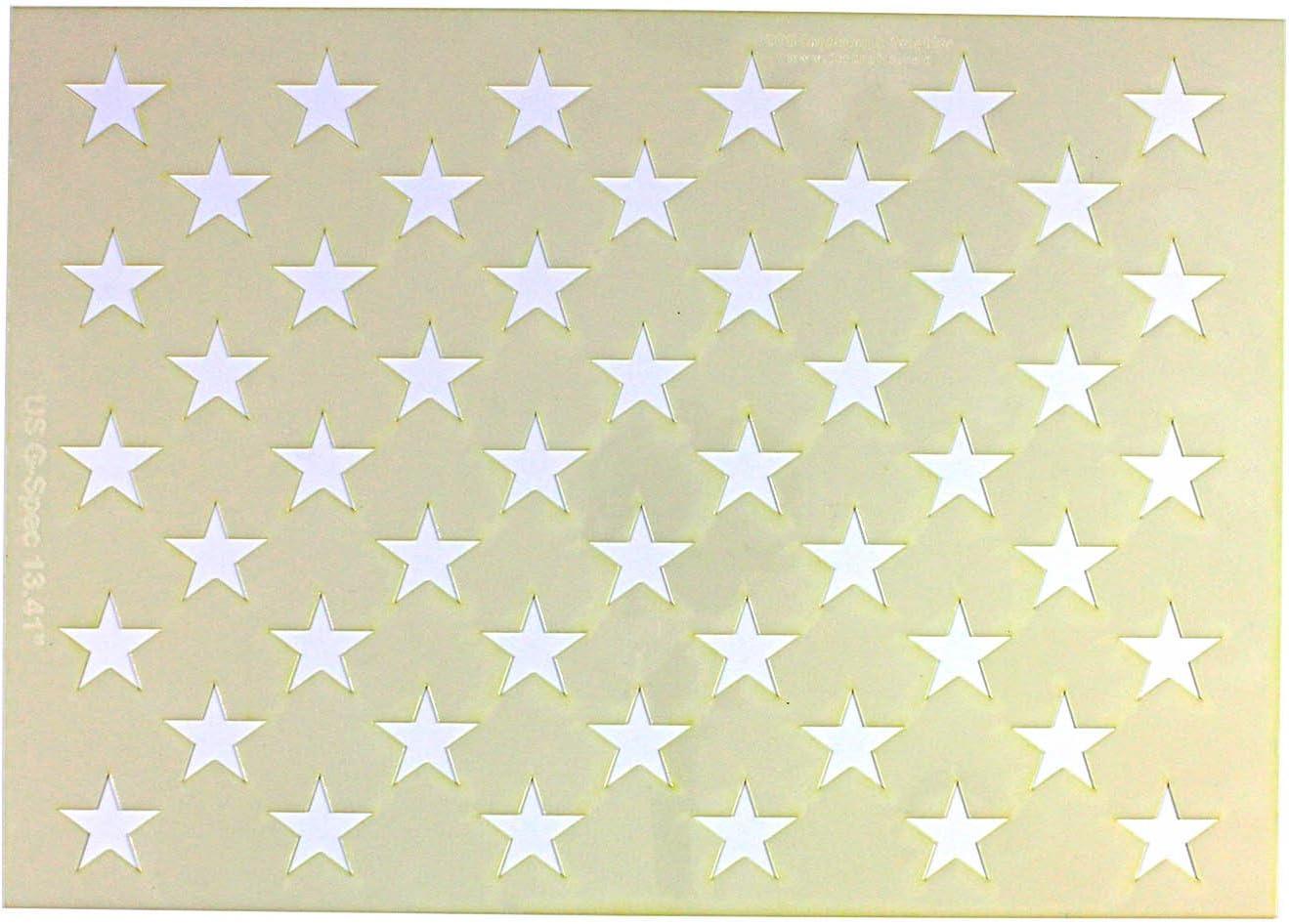 50 Star Field Stencil US//American Flag G-Spec 9.5 x 13.41 Inches
