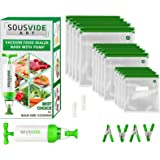 Sous Vide Bags - Must-Have for Sous Vide Cooker - 30 Reusable Food Vacuum Storage Bags - Sous Vide Bag Kit - 3 Sizes BPA…