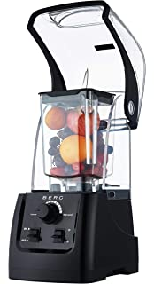 0c38b363cd6 BERG 2200W 3HP Commercial Bar Kitchen Blender with Sound Cover Enclosure -  Black (Soup