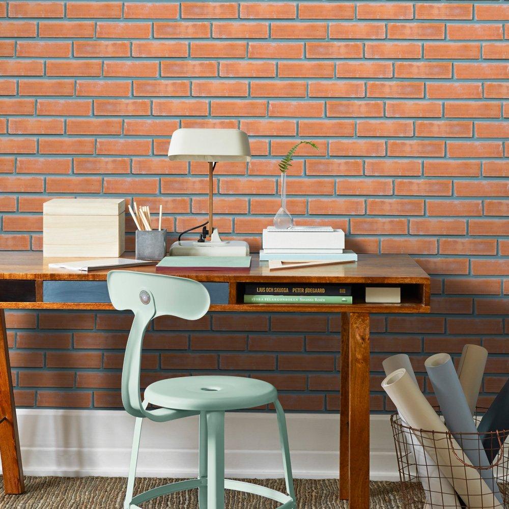 HyFanStr Backsplash Peel & Stick Tile Stickers Brick Wall Effect Wallpaper Self-Adhesive Home Decor (20cm x 500cm)