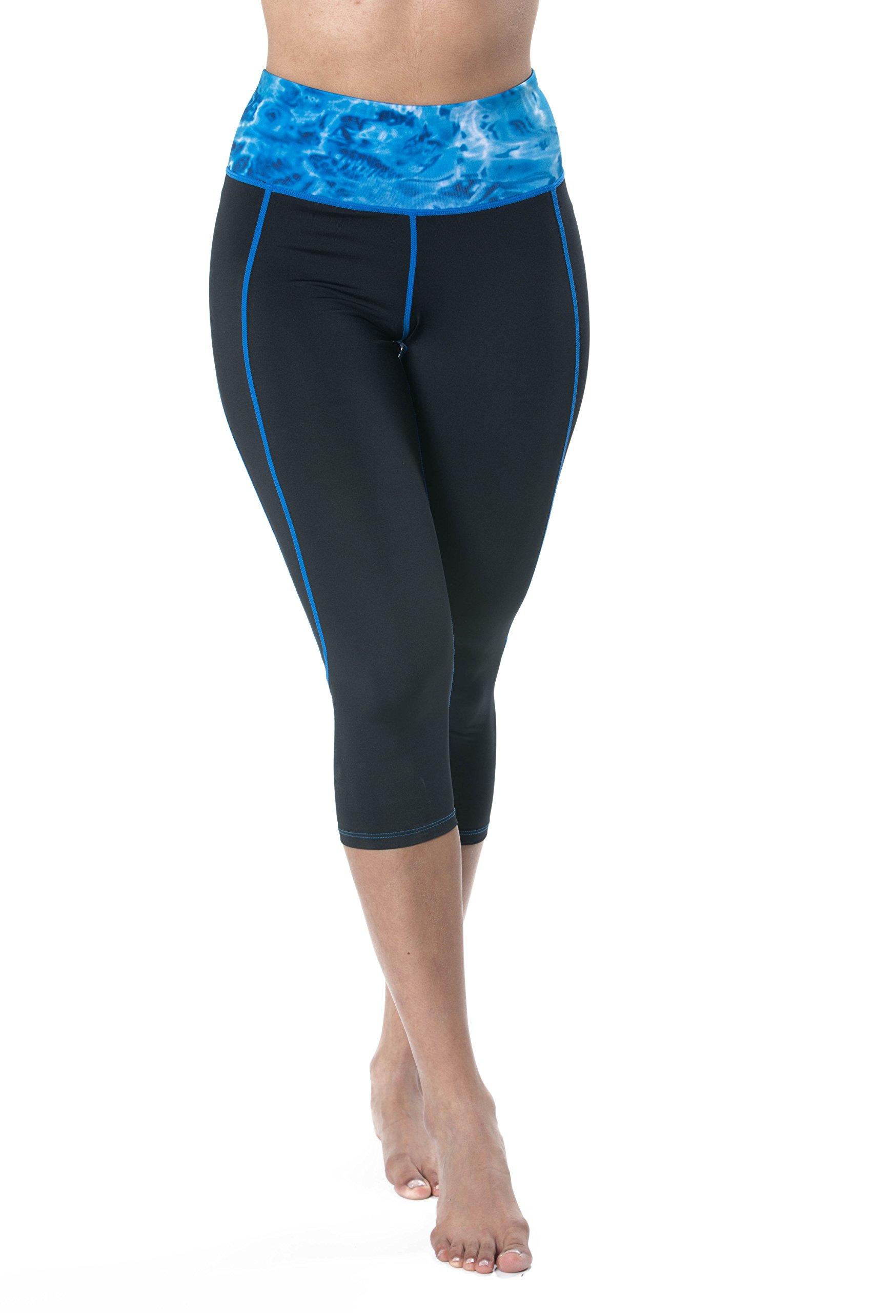 Aqua Design Capri Workout Leggings with Pocket for Women