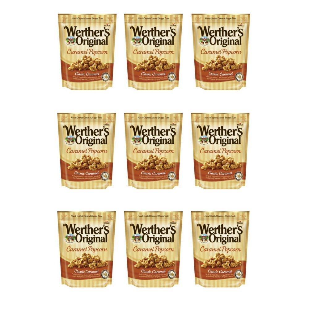 Werther's, Original, Caramel Popcorn, Classic Caramel, 6 Ounce Bag (Pack of 9)