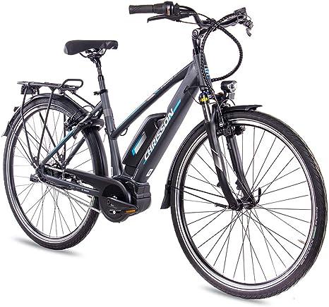 CHRISSON Bicicleta eléctrica para mujer, 28 pulgadas, bicicleta de ...