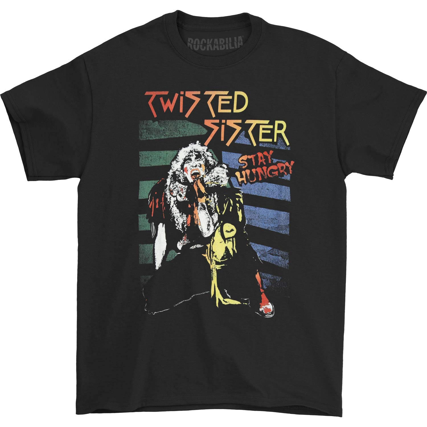 Twisted Sister American Heavy Metal Band Stay Hungry Adult T Shirt Tee