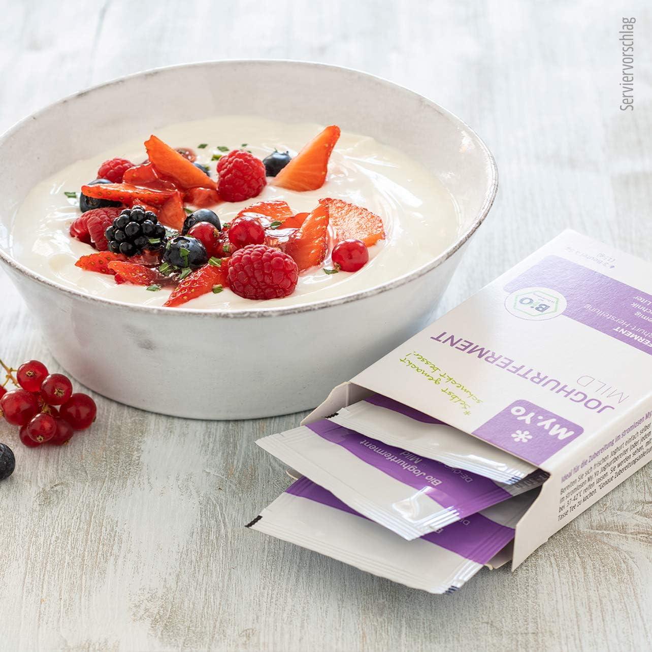 My.Yo   Ferment pour yaourt doux bio   12x12 g   Ferment pour jusqu'à 12 L de  yaourt maison