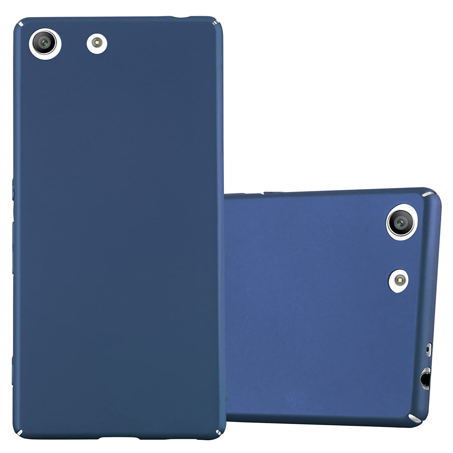 separation shoes d64dd 316eb Cadorabo Case Works with Sony Xperia M5 in Metal Blue – Shockproof and  Scratch Resistent Plastic Hard Cover – Ultra Slim Protective Shell Bumper  ...