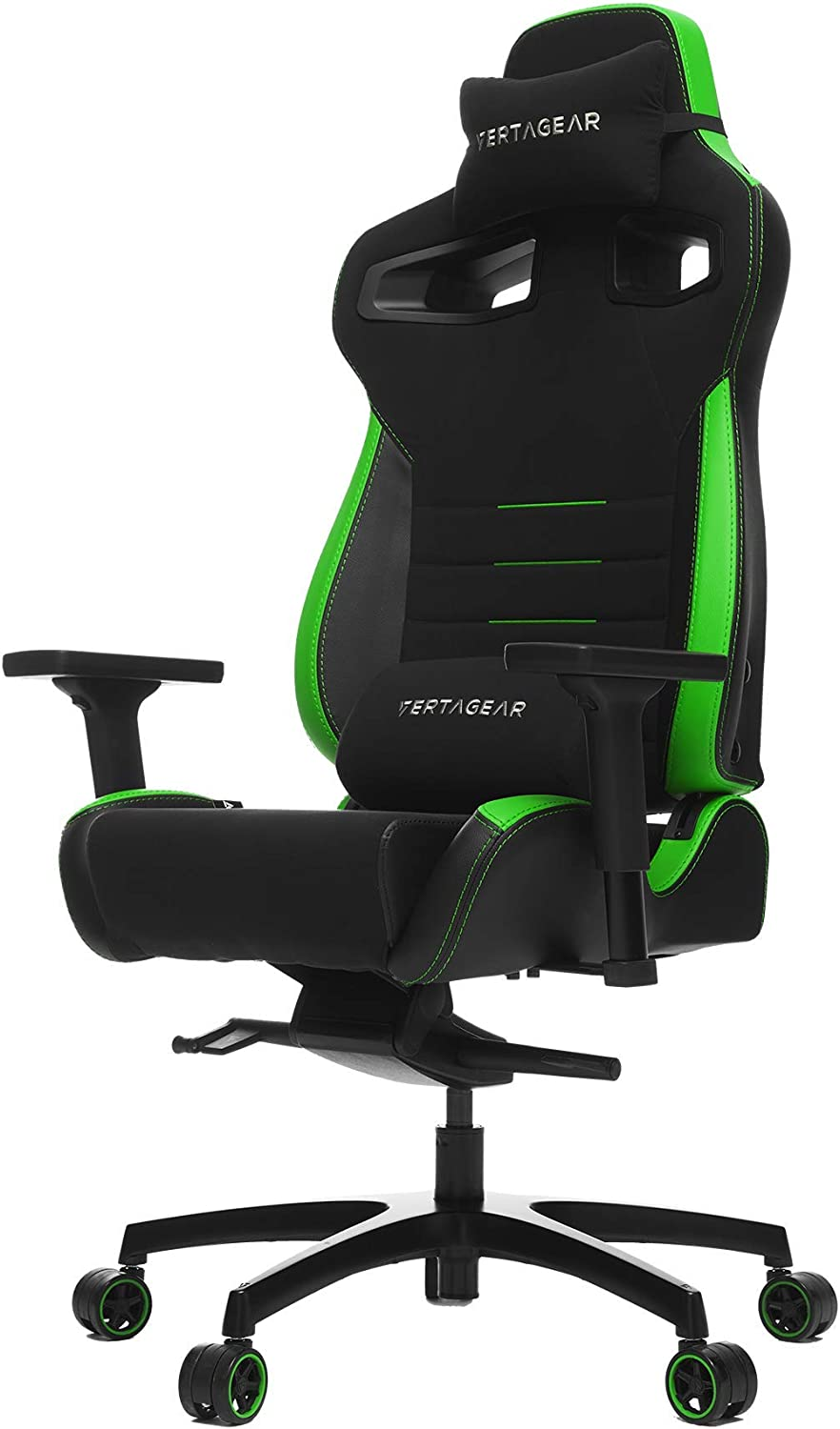 Vertagear Gaming Racing Seat Home Office Computer Coffee Fiber High Back Executive Chairs, Black/Green