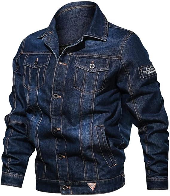 冬の男性デニムジャケットメンズファッションカジュアルジーンズジャケット男暖かい厚いデニムコート男性の毛皮の襟の