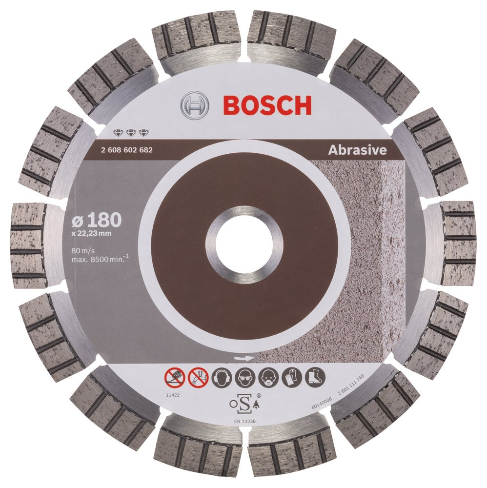 2608602682 BOSCH 180MM DIAMOND CUTTING DISC BEST FOR ABRASIVE