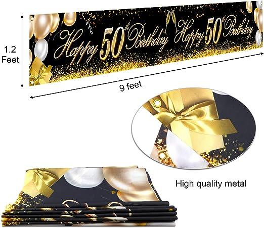 60. Jahrestag Jahrestag Geburtstag Party Dekoration Riesen Schwarz und Gold Zeichen Geburtstag Party Banner Foto Stand Jahrestag Hintergrund f/ür Geburtstag Party Lieferung