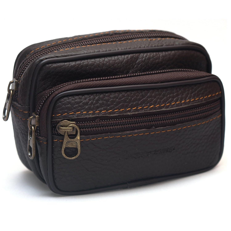 Amazon.com: New Mini Men's Leather Waist Belt Loops Bag Coin ...
