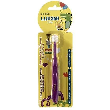 Cepillo de dientes infantil con cabezal de 360º, Step 1 to Step 3, para
