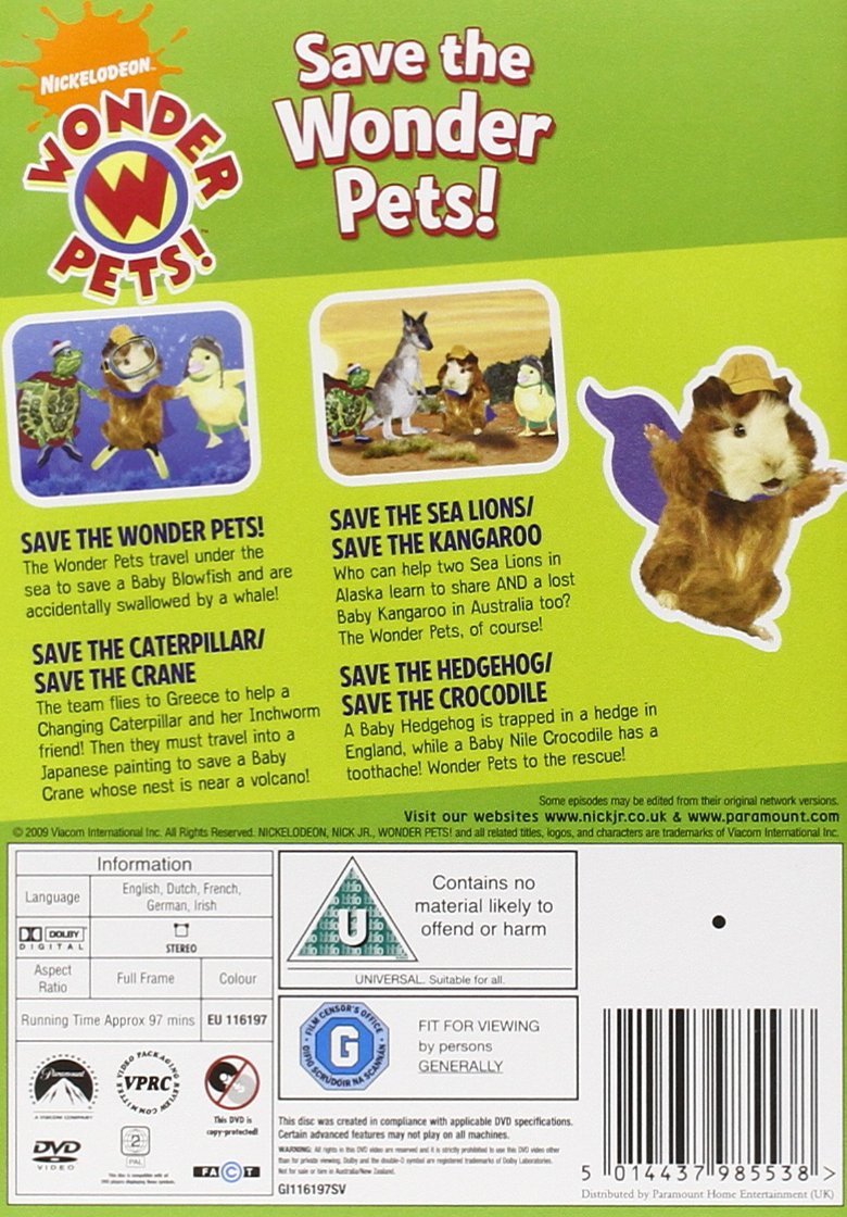 Wonder Pets - Save the Wonder Pets [DVD]: Amazon.co.uk: Jennifer ...