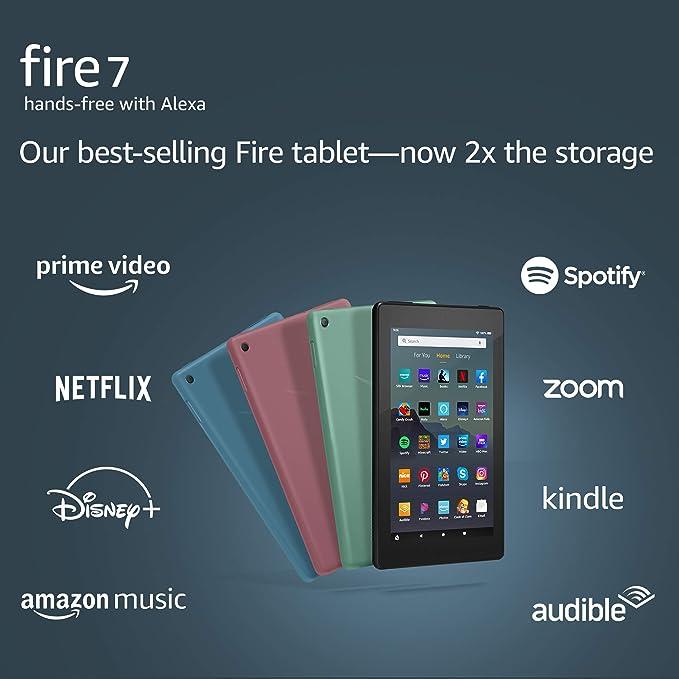 "Fire 7 tablet (7"" display, 32 GB) - Black   Amazon"
