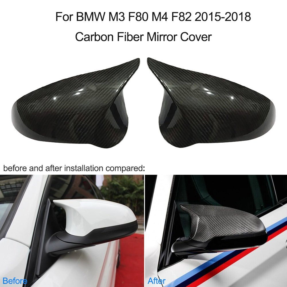 KKmoon per M3 F80 M4 F82 Copri Specchio in Fibra di Carbonio 2015-2018 1 Paio