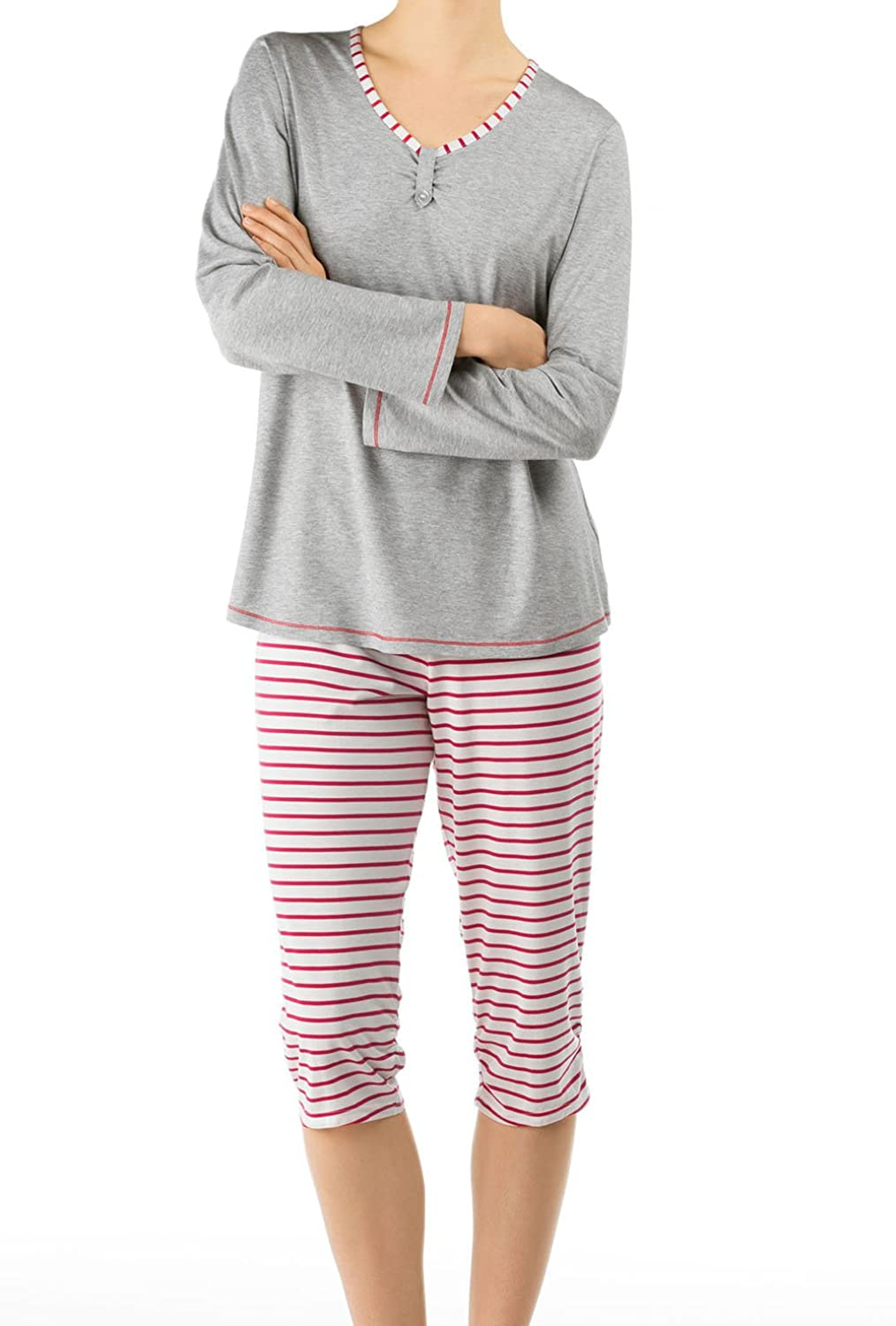 Calida Women's Pyjama Set Grey grey