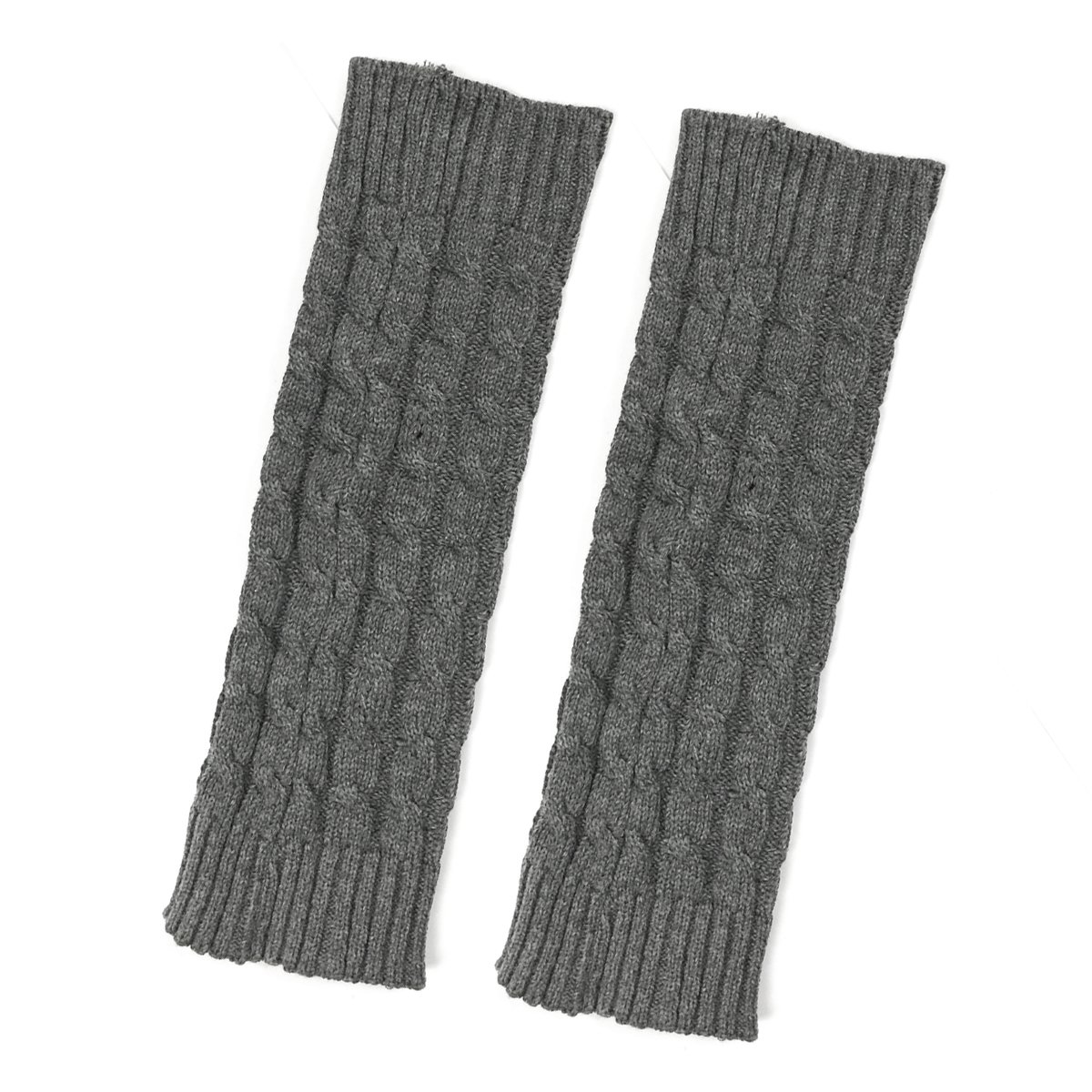 Bowbear Little Girls Cable Knit Leg Warmers, Gray