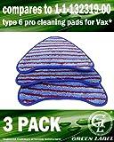 Lot de 3. Lingettes Microfibres d'une Texture Rugueuse pour les Balais Vapeur Vax (Alternative à Type 6 Pro Cleaning)