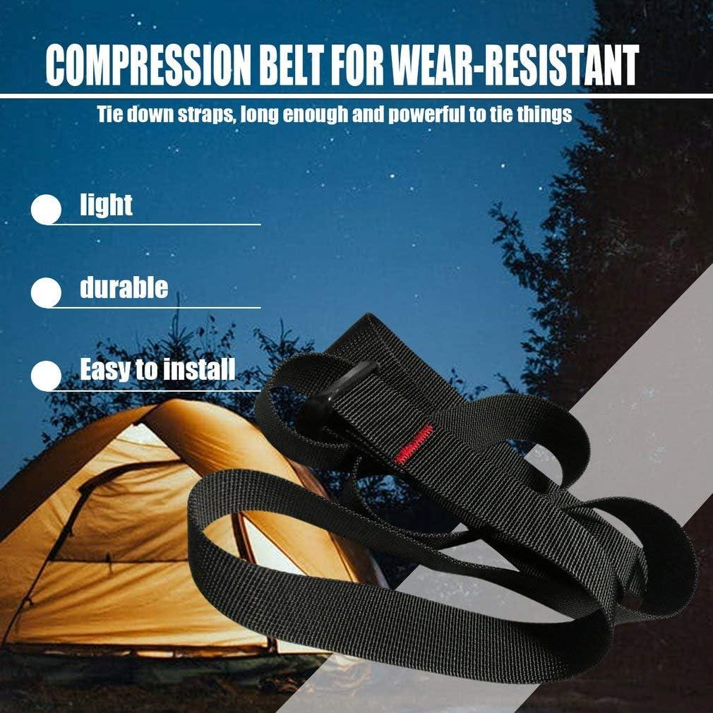 Black Adjustable Car Tension Rope Tie Down Strap Strong Ratchet Belt for Luggage