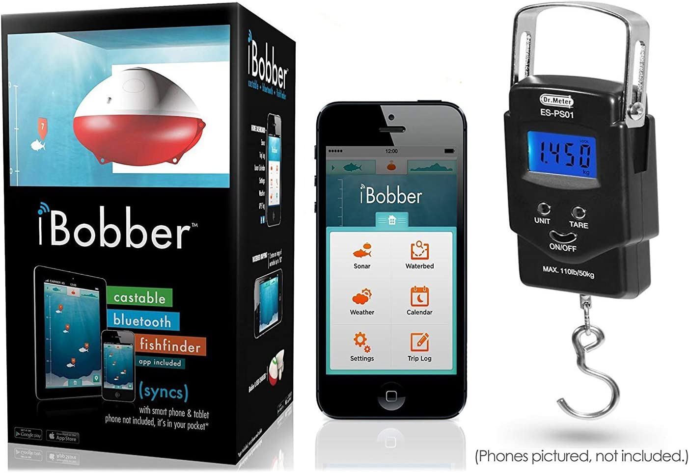 ReelSonar CGG-MY-IBOBBER iBobber Wireless Bluetooth Smart Fish Finder for iOS