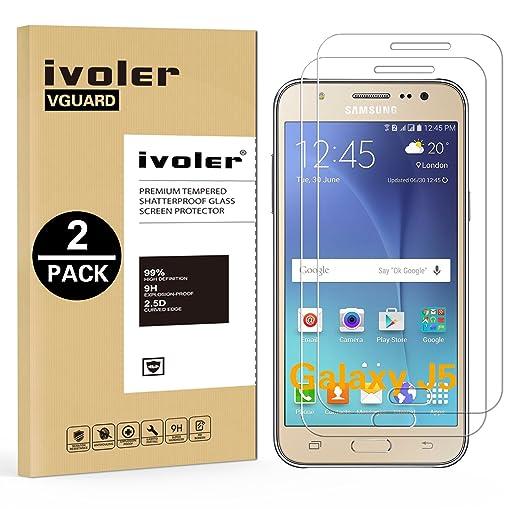 3 opinioni per [2 Pack] Pellicola Vetro Temperato Samsung Galaxy J5, iVoler® ** [Protezione