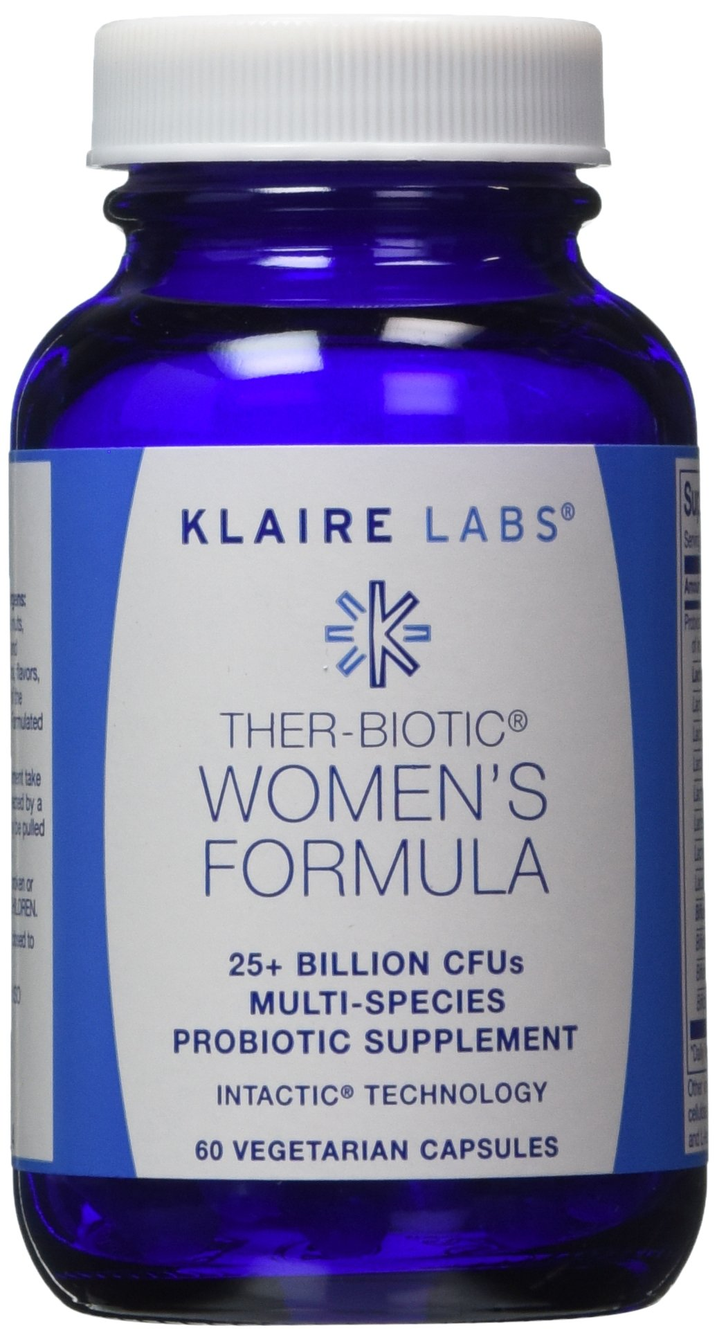 Klaire Labs Ther-Biotic Womens Formula Vegetarian Capsules, 60 Count