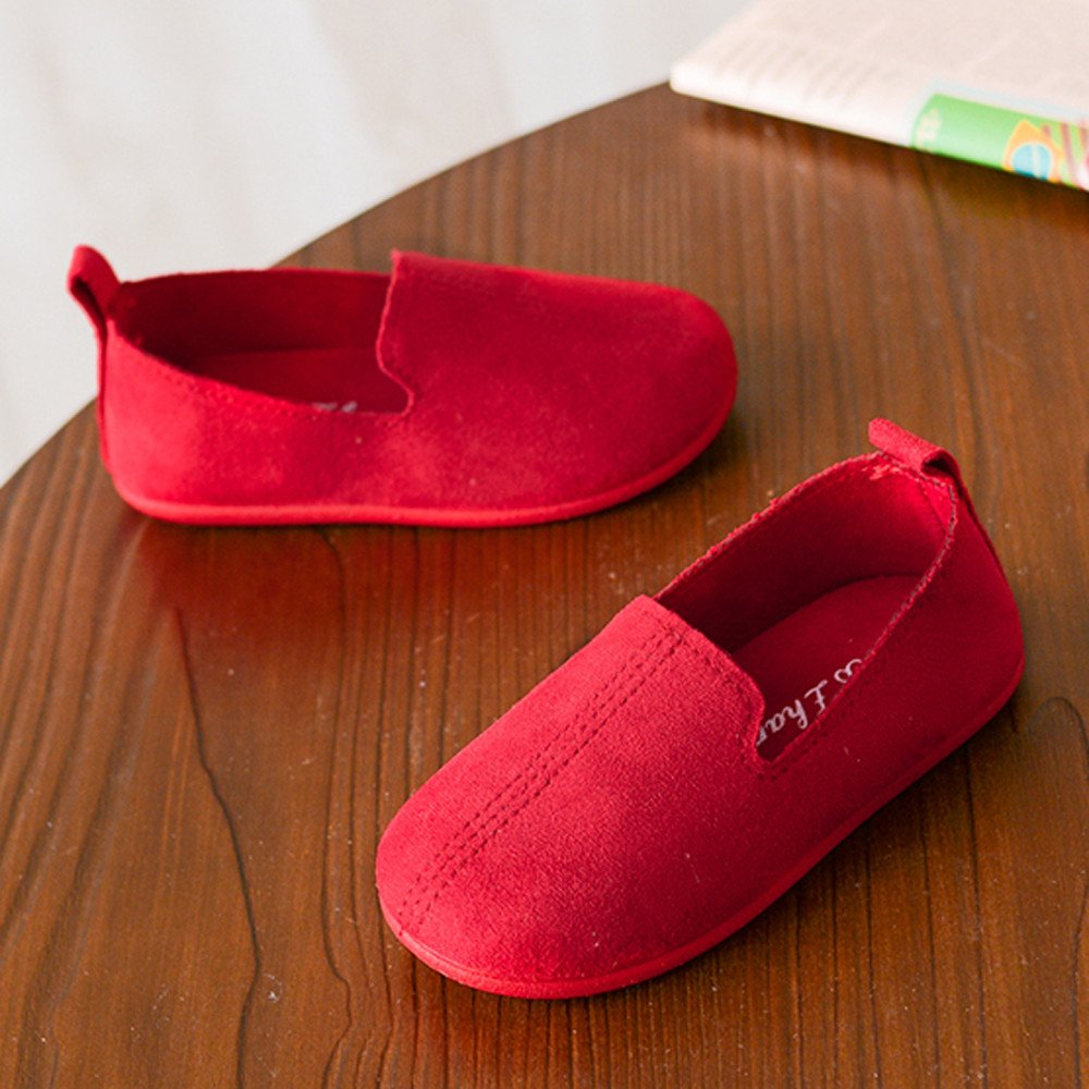 Lurryly Baby Fashion Child Girls Solid Color Casual Single Leather Pricness Shoes 2019Clearance