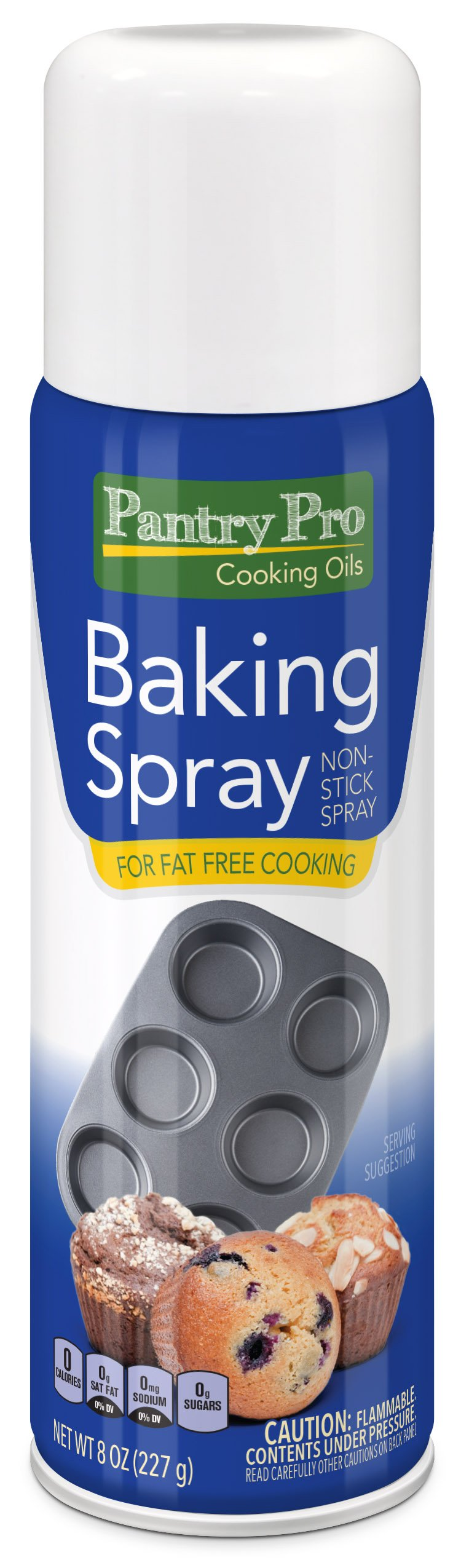 Pantry Pro Baking Cooking Spray, 8 Fluid Ounce (Pack of 4) by Pantry Pro
