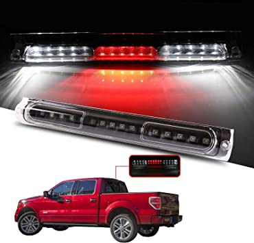 Third Brake Light LED 3rd Brake Light Rear Tail Brake Light Cargo Lamp Clear Lens Replacement fit for 1997-2003 Ford F-150 F-250 2004 Ford F-150 F-250 Classic 2000-2005 Ford Excursion FO2890102