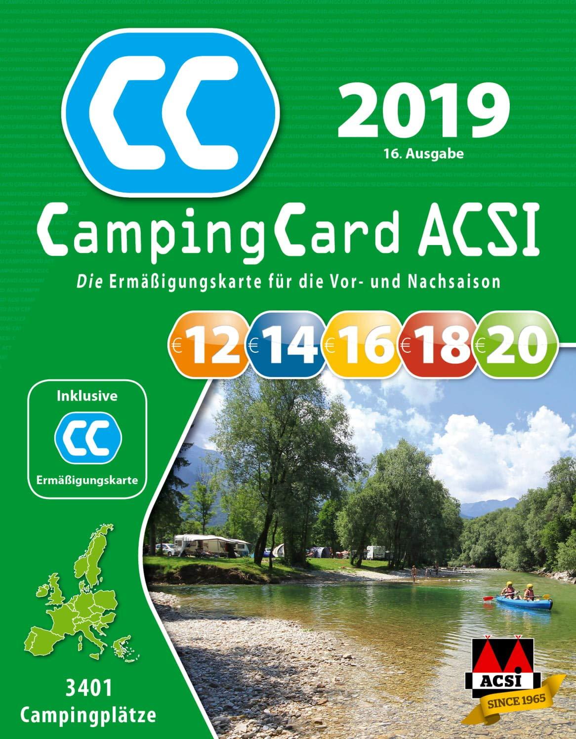 Acsi Karte.Acsi Campingcard Ermassigungskarte 2019 Fur Die Vor Und