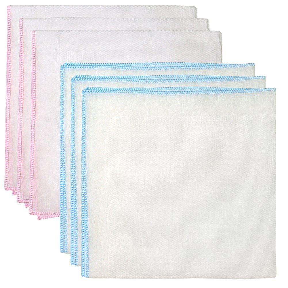 6 pezzi Ultra Soft Cotton Handkerchief neonati Infant, per doccia e vasca da bagno, asciugamano Garza panni bavaglino, 100% cotone Banner Bonnie BBbaby-bathtowel