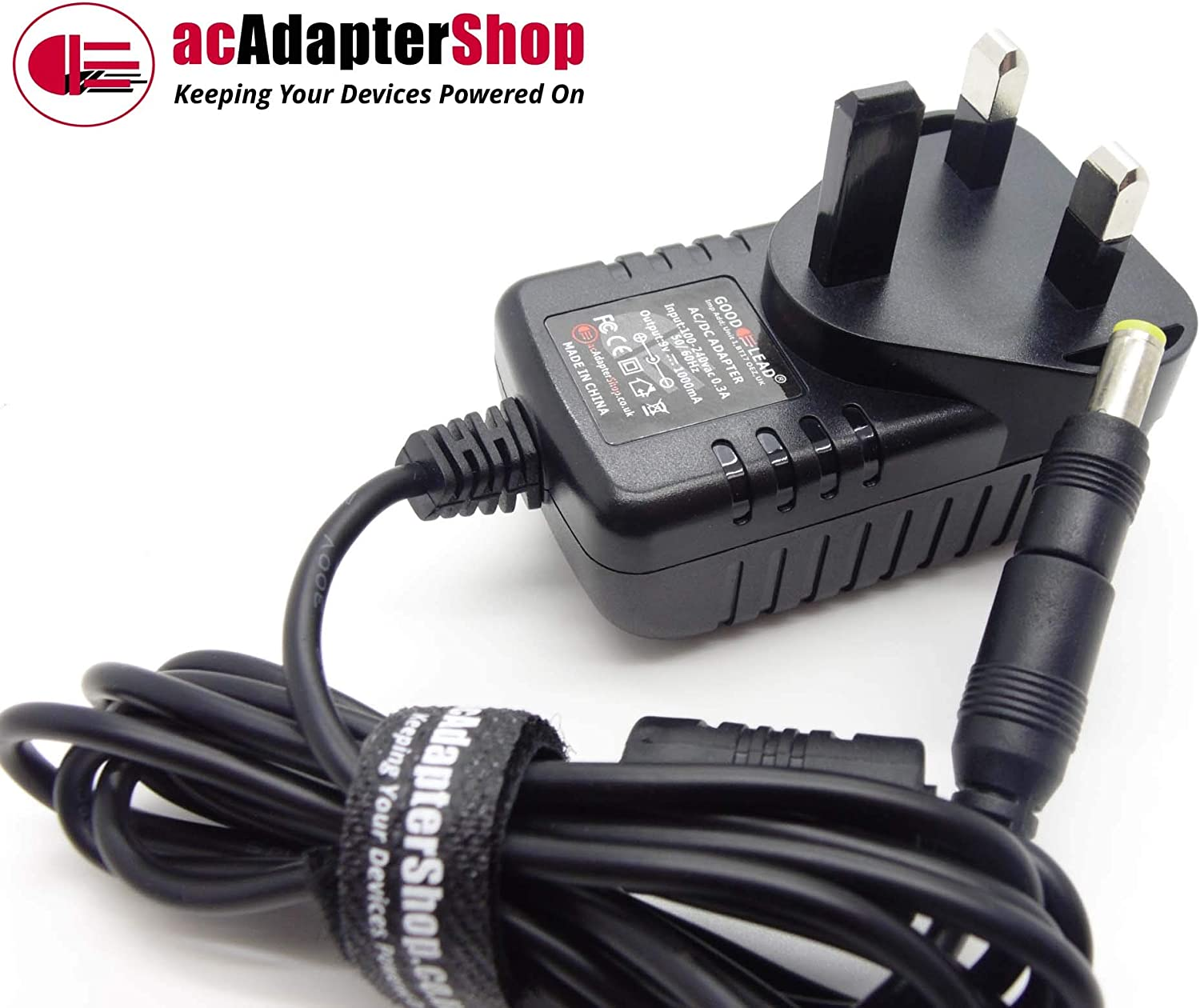 Switch Mode Power Supply Adaptor Charger GOOD LEAD 9 Volt Mains AC//DC Adapter Which Is Compatible With VENTURER PVS1370IE Device Power Lead