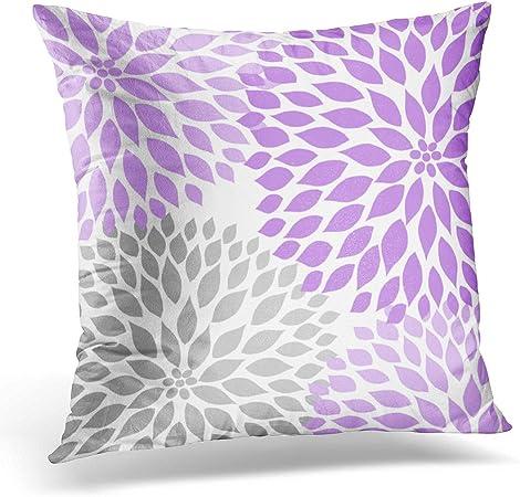 TORASS Throw Pillow Cover Gray Lavender