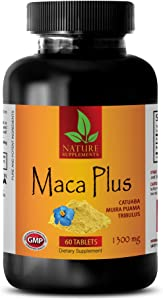 Increase libido in Men - MACA Plus Complex 1300mg - Maca Pills for Weight gain - 1 Bottle 60 Tablets