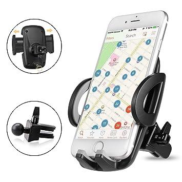 iVoler Version Soporte Universal Movil Coche con Actualizado Pinza para Rejillas de Ventilación de Coche para iPhone,Samsung,Huawei,LG,Xiaomi,BQ Aquaris y ...