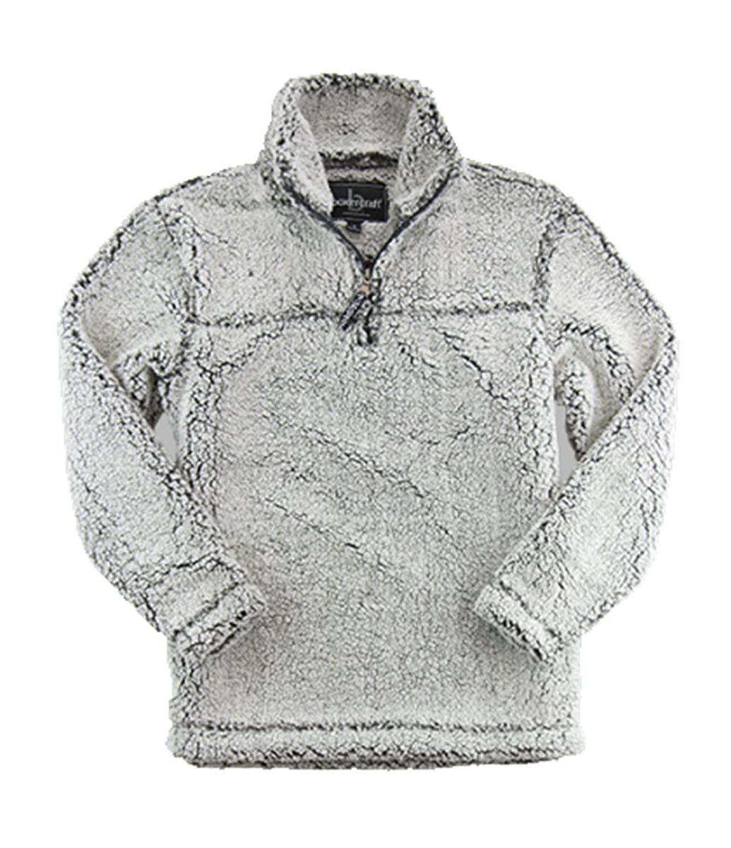 boxercraft Adult Super Soft 1/4 Zip Sherpa Pullover, Frosty Grey, 3XL