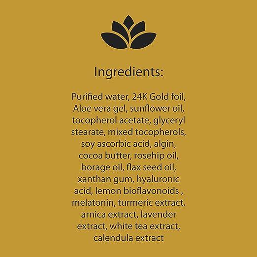 Amazon.com: Nu Yuu 24K Gold Foil Facial Serum with Vitamin C + Hyaluronic Acid. 1 fl.oz - 30 ml, Size 1 fl oz.: Beauty