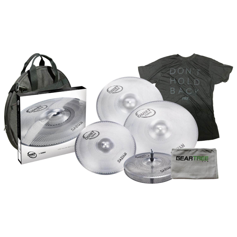 Sabian QTPC504 Quiet Tone Cymbal Pack w/ 14'' Hi Hats, 16'' Crash, 18'' Crash, 2 by Sabian