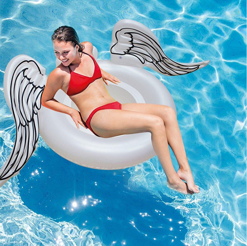Flotador Inflable De La Piscina Anillo De Alas De Ángel Giant Drifter Mat Summer Swimming Portable Deporte Acuático Toy Tumbonas Flotadores Playa Para ...
