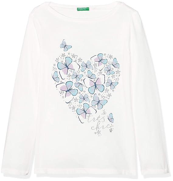 United Colors of Benetton T-Shirt L/S, Camiseta para Niñas: Amazon.es: Ropa y accesorios
