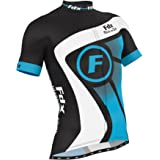 FDX Mens Cycling Jersey Half Sleeve Racing Team Breathable Biking Top + Bicycle Riding Bib shorts set
