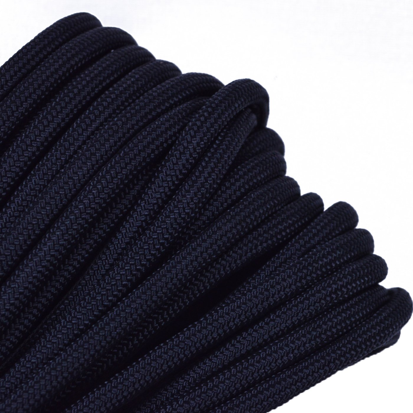 Black Mil-Spec Commercial Grade 550lb Type III Nylon Paracord - 50 Feet