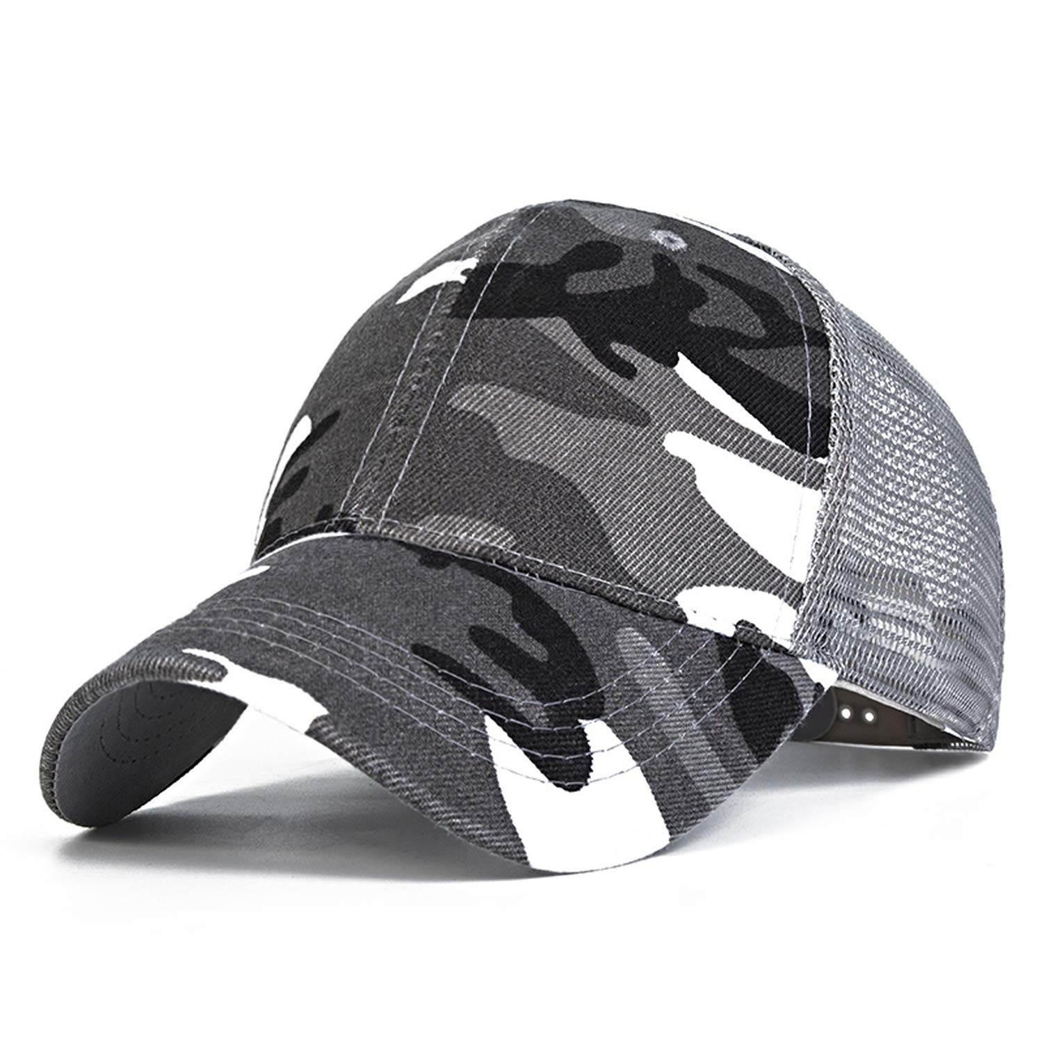 XuanHan 2018 Snow Camo Baseball Caps Men Summer Mesh Cap Tactical Camouflage Hat for Men Women at Amazon Womens Clothing store:
