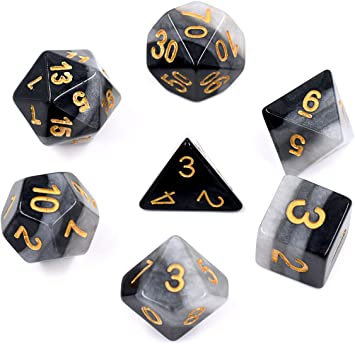 2018 20-Sided Die D20 DUNGEONS/&DRAGONS D/&D RPG Polyhedral Dice Game Playing Set