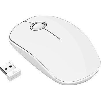 VicTsing Ratón Inalámbrico 2.4G con Receptor Nano, Silencioso y Haga Clic con 1600 dpi para PC, Ordenador Portátil, Computadora y MacBook - Plata