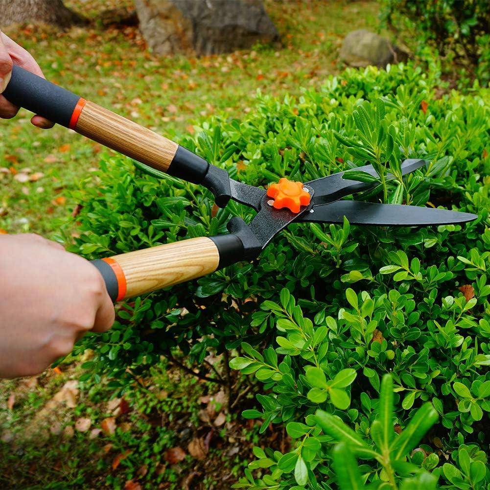 Gardtech Manuelle Heckenschere Teflon 560 mm,Strapazierf/ähig Klingen mit Bequemem Holzgriff