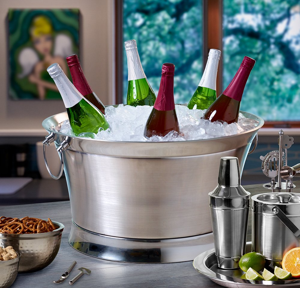 BirdRock Home Double Wall Round Beverage Tub | Stainless Steel | Large by BirdRock Home (Image #3)