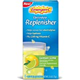 Emergen-C Replenisher (8 Count, Lemon-Lime Flavor) Electrolyte Replenishment Drink Mix with 250mg Vitamin C, 0.33 Ounce Packets