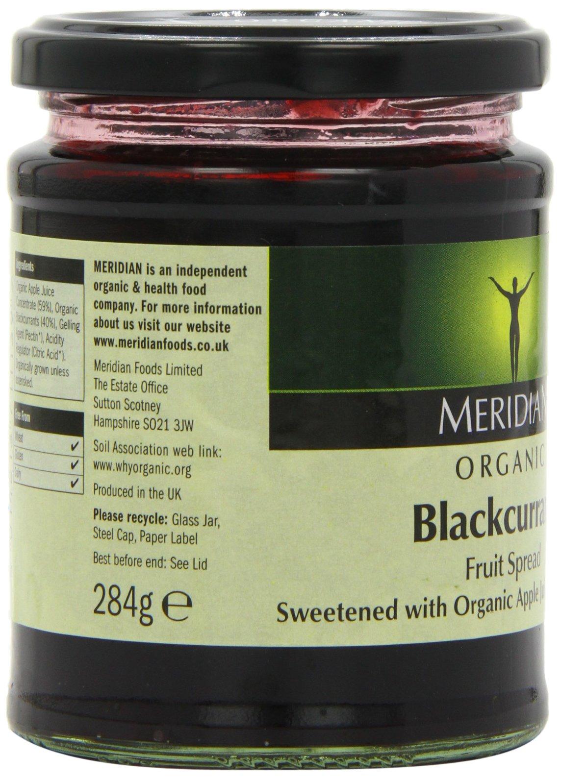 Meridian Organic Blackcurrant Fruit Spread 284 g (Pack of 6) by Meridian (Image #7)