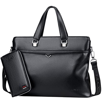 823696e282 QLX 14 Inch Briefcase Business Casual Cross Section PU Portable Slung  Shoulder Waterproof And Wearable Soft